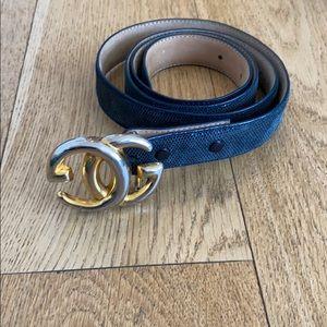 Snakeskin Gucci belt